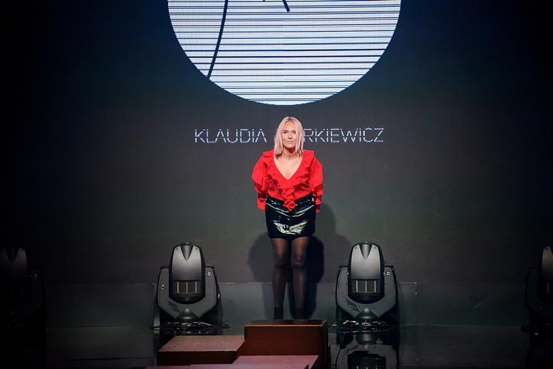 Klaudia Markiewicz po pokazie kolekcji BLACK LODGE/fot. Marek Makowski