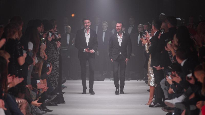 Marcin Paprocki i Mariusz Brzozowski po pokazie/fot. Filip Okopny - Fashion Images
