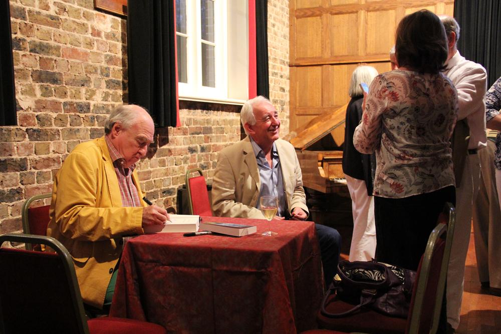 Henry Blofeld & Peter Baxter, in the Flint Halls at Folkington Manor