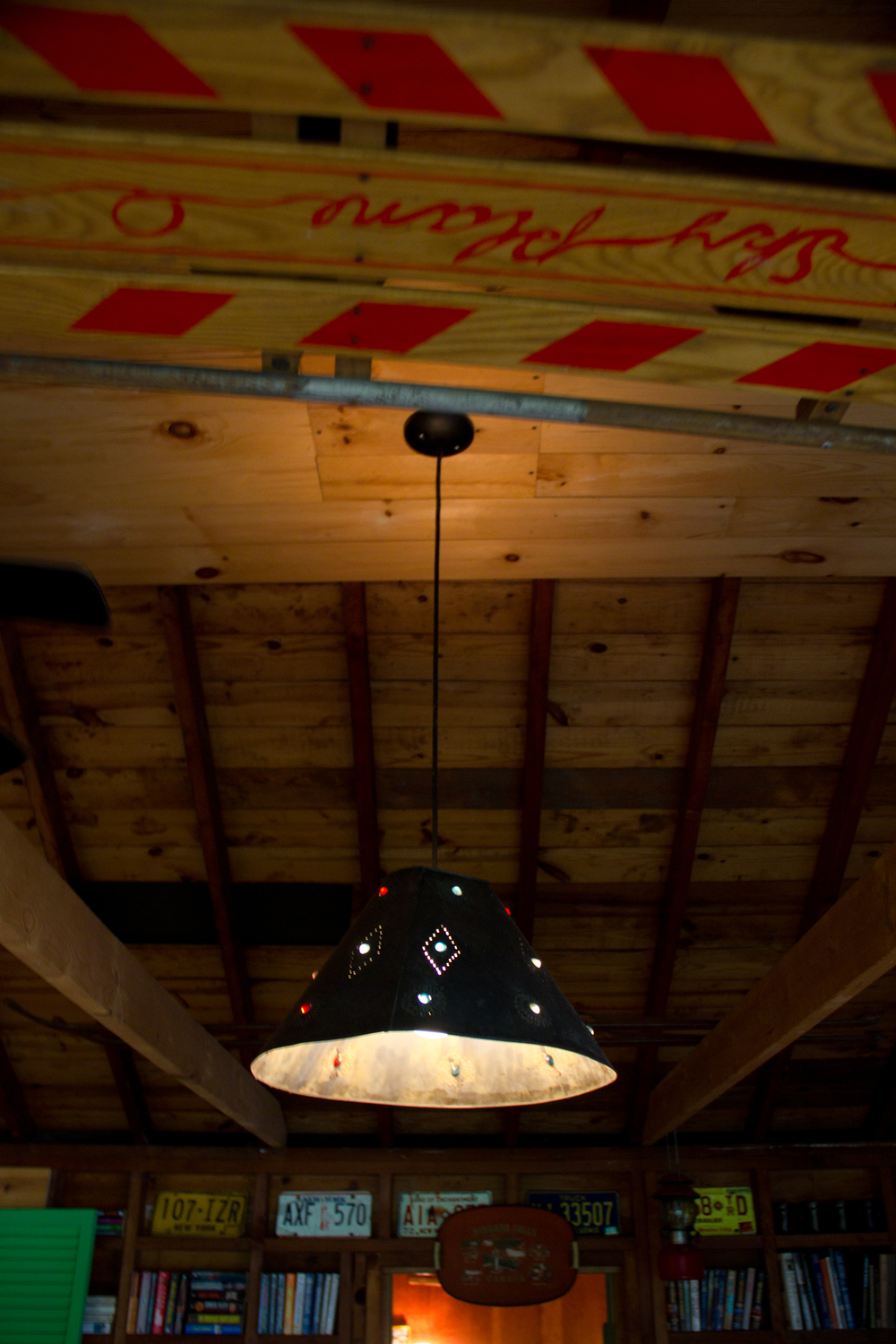 Lighting in the main room (by me). That's a sled in the rafters in the foreground.