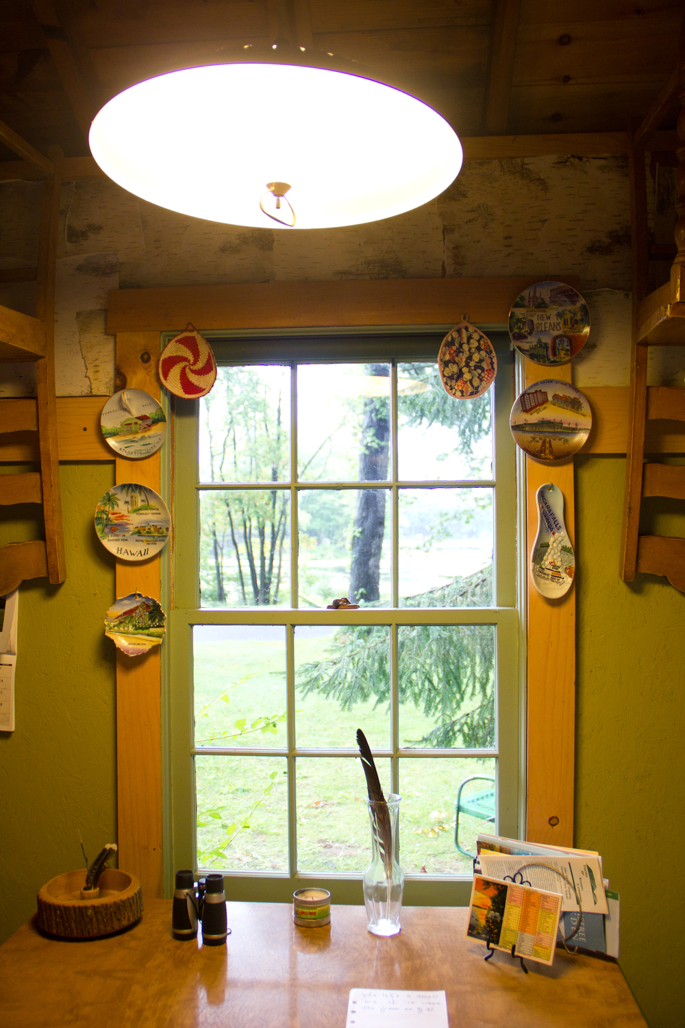 The kitchen window with more cute plates! (by me)