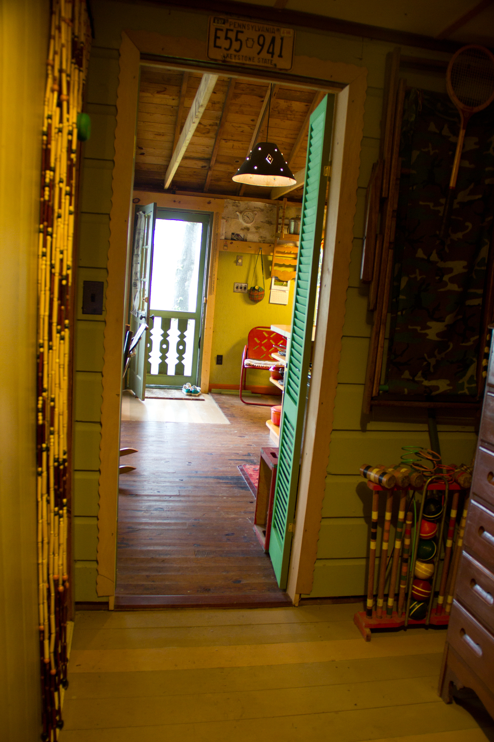 The hallway looking into the main room (by me, with some major distortion going on here!)
