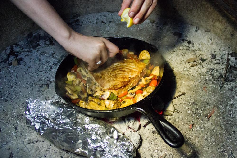 Seared Tuna! Fingerling potatoes! Roasted veggies!