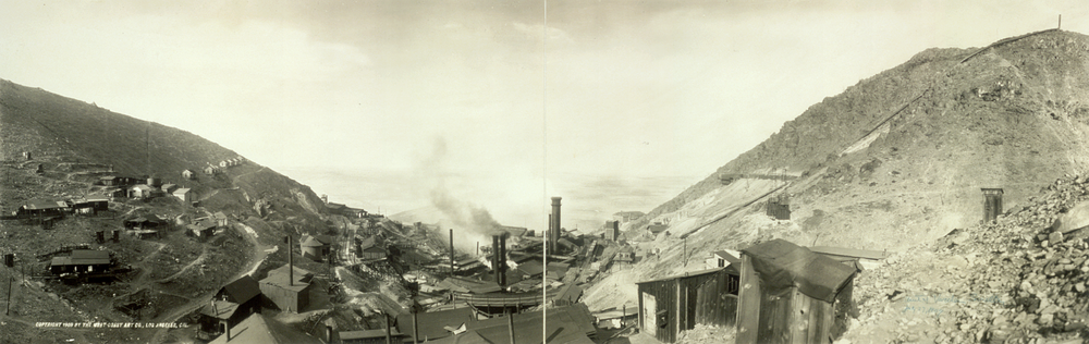 The mine, before it became an open pit mine. That's what  Wiki  says, anyhow.