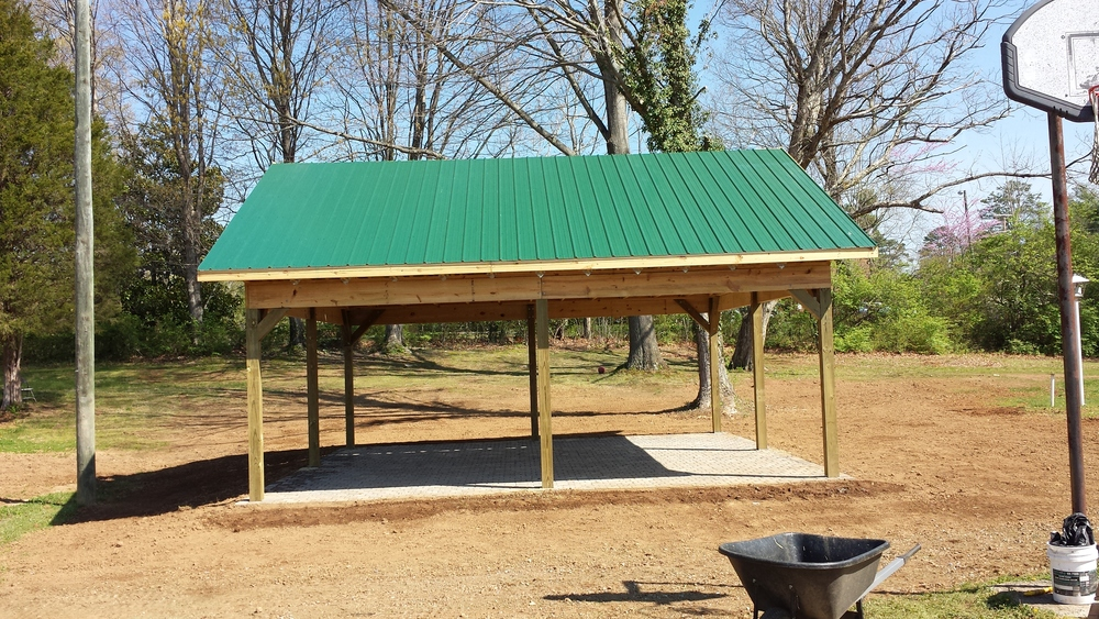 Agape Outreach Pavilion- April 2014  Pavers by Hickory Hardscape