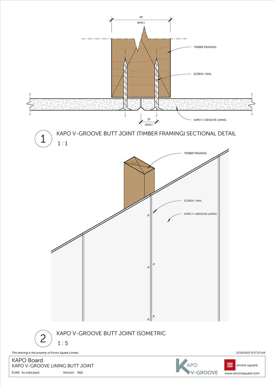46A lining butt joint