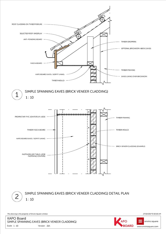 21A spanning brick veneer cladding
