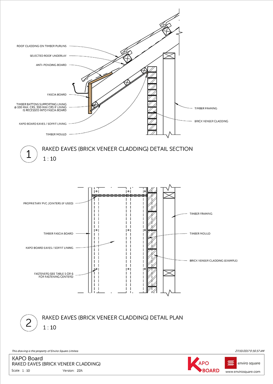 22A raked eaves - brick veneer cladding