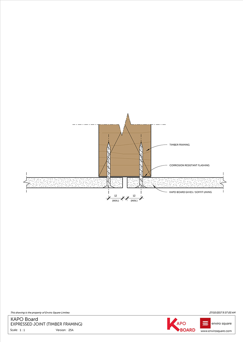 25A Expressed joint (timber framing)