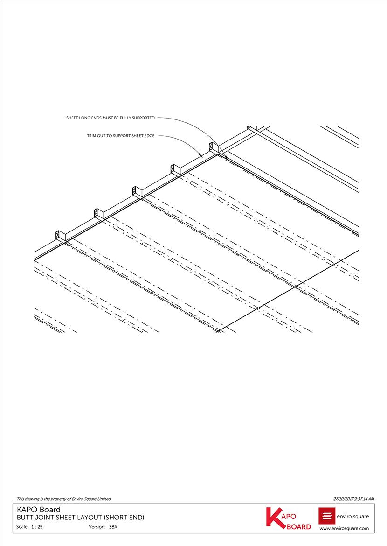 38A Butt joint sheet layout)