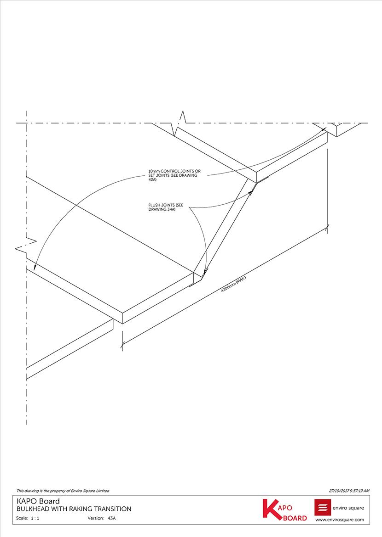 43A bulkhead with raking transition