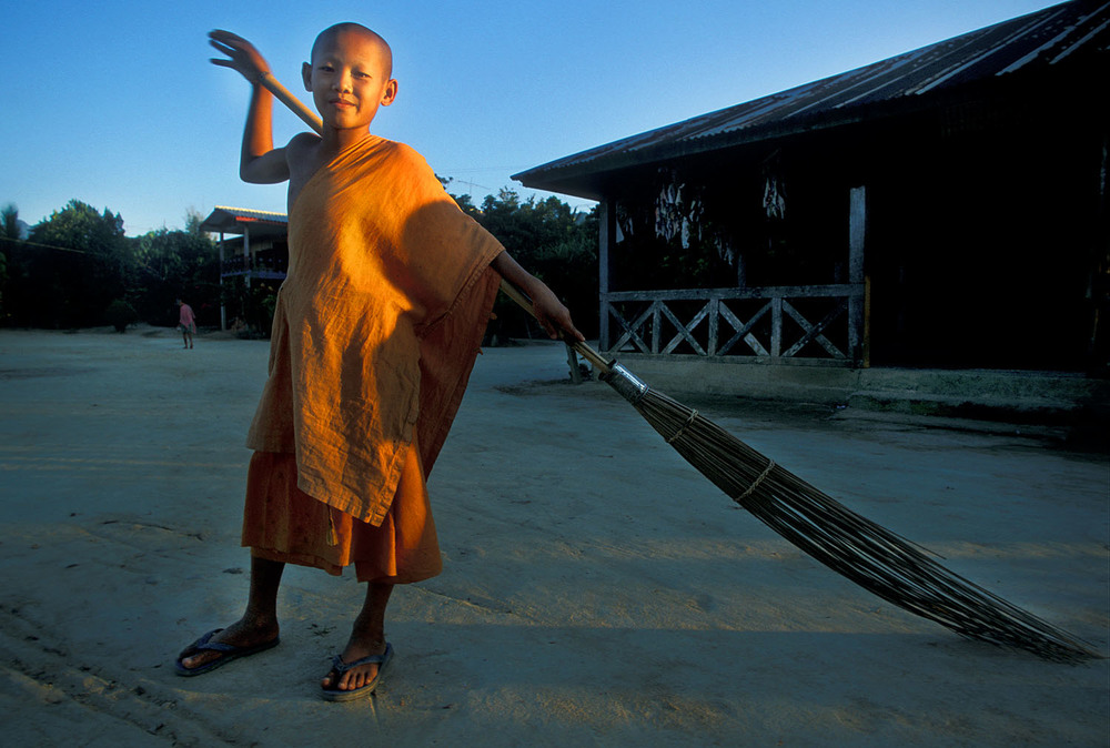 Novice Monk, Laos