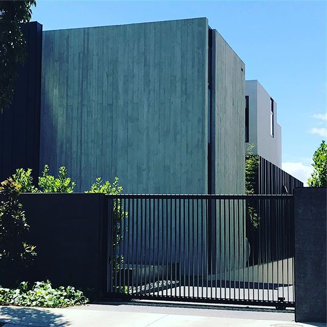 #macsuede pairs perfectly with with this beautiful formed concrete residence. #macrender #architecture #concretefinish #design #melbournearchitecture