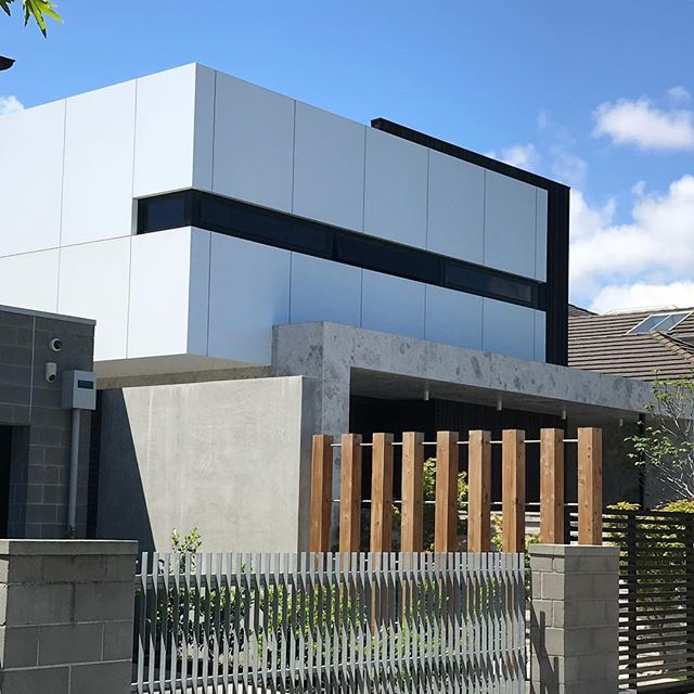 #macsuede used to beautiful effect on stunning Brighton residence. #macrender #macrender #architecture #exclusiveexteriordesigns #concretefinish