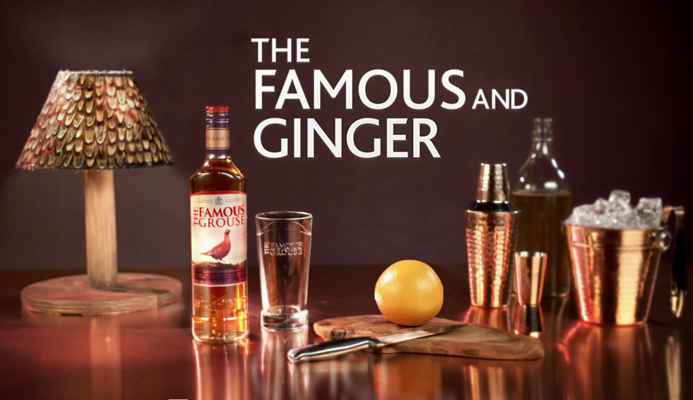 FAMOUS GROUSE: SERVE Online promos showcasing grouse themed cocktails