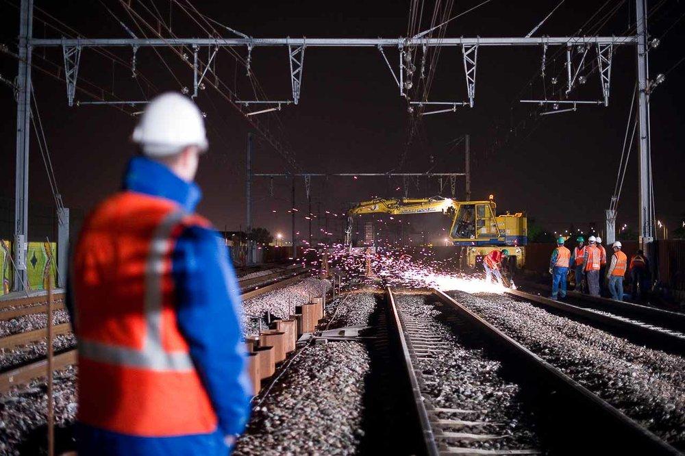 Chantier de nuit SNCF