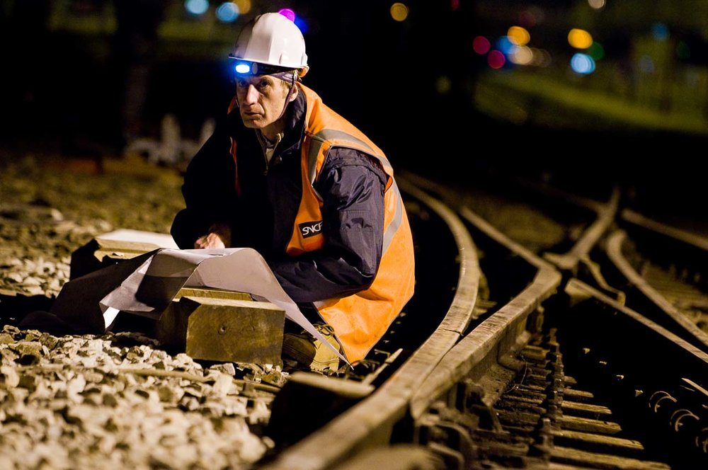 Travaux du pont ferroviaire SNCF