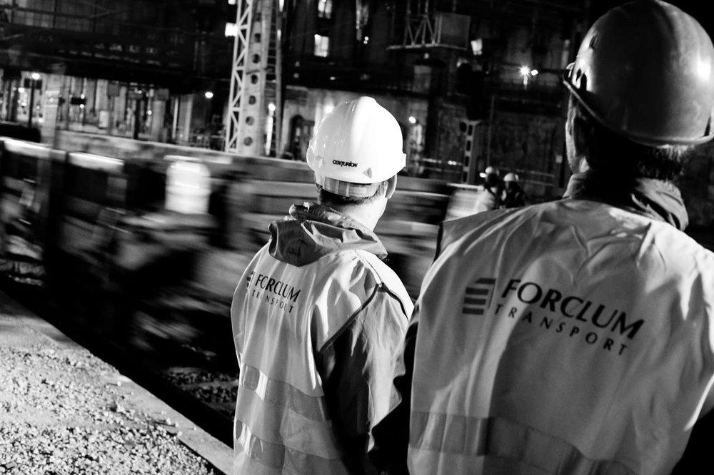 Reportage chantier Noir & Blanc