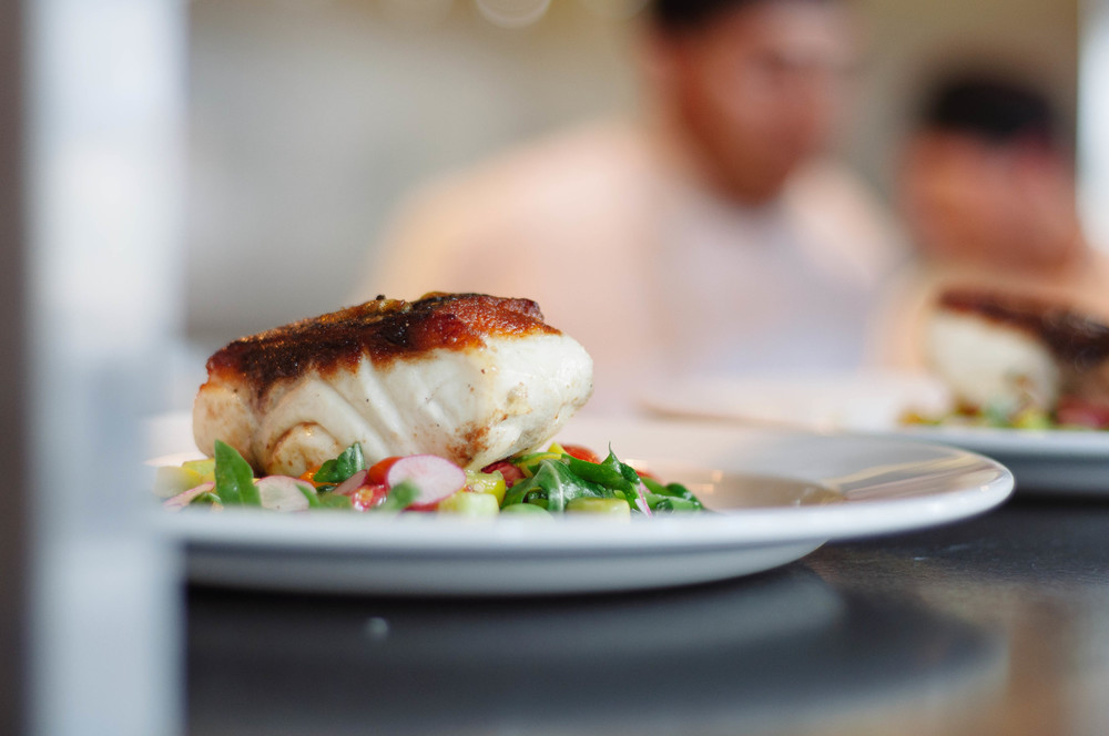 - Indulge -   Pan Roasted Wild Striped Bass    Read Article