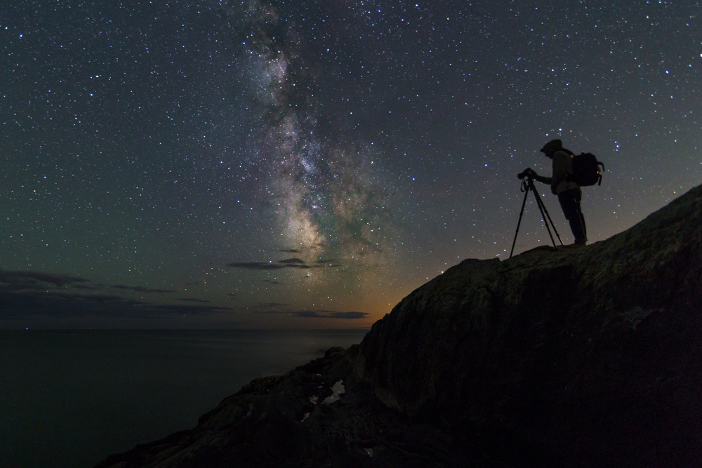 Photographing Maine's Night Sky    Story and Photographs by Jon Secord
