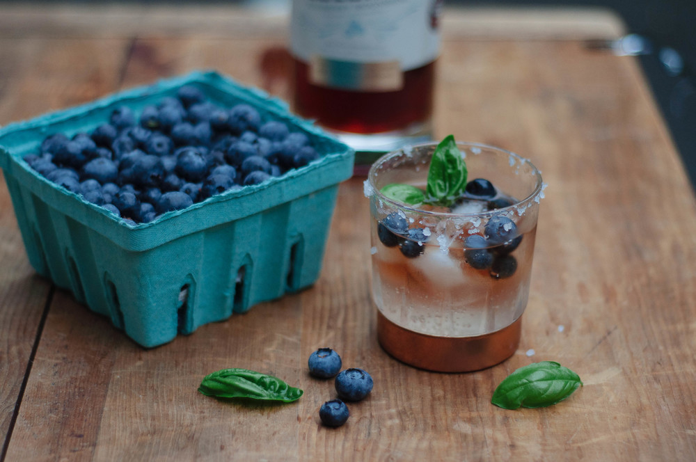 Blueberry Sea Salt Cordial    Recipe by Mandi Tompkins