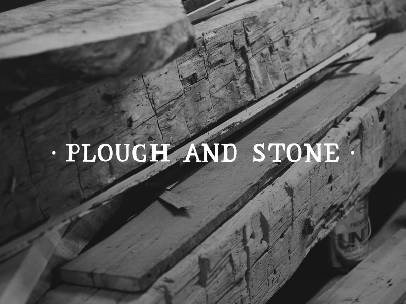 DAY 20 - PLOUGH AND STONE