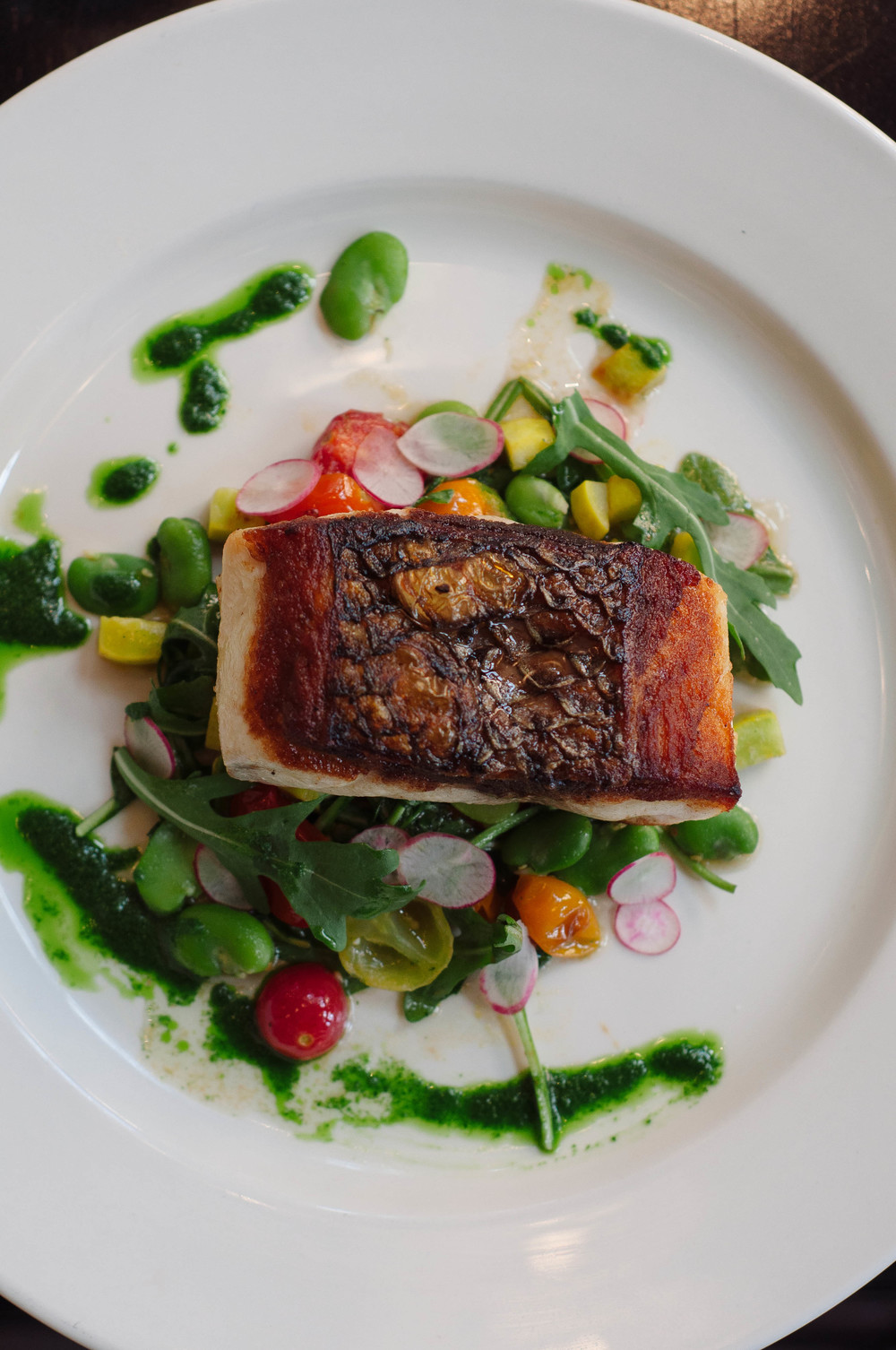 Pan Roasted Wild Striped Bass