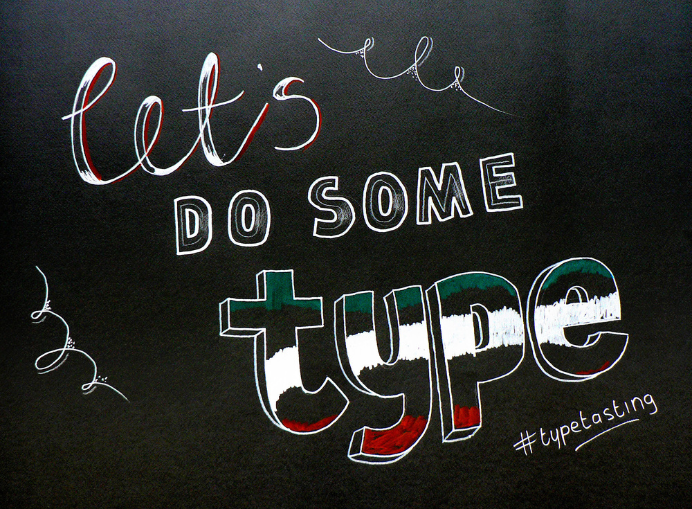 """""""Lets do some type"""" - Live lettering"""