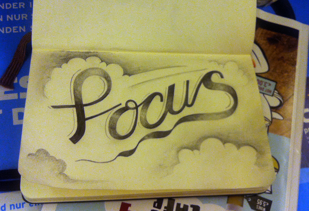 Focus - 'In-flight' sketch on the way to Seville