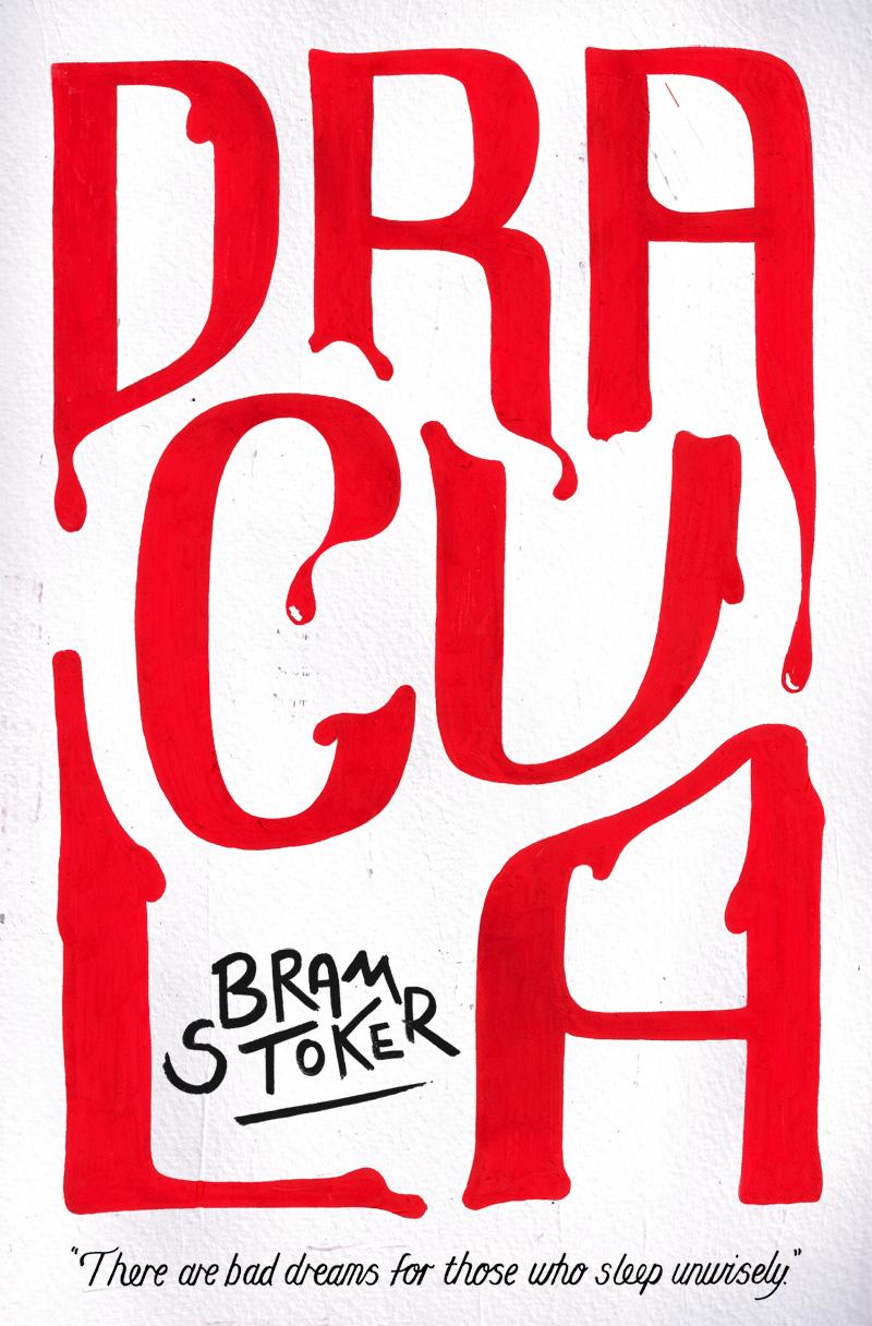 Oli Frape Lettering - Dracula - Book Cover