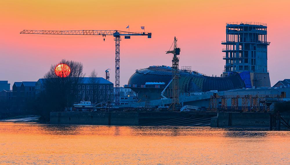 Construction de la cité du vin