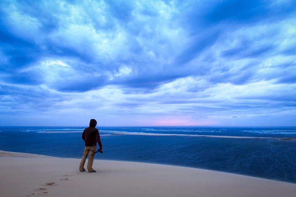 Autoportrait en haut de la dune du Pilat