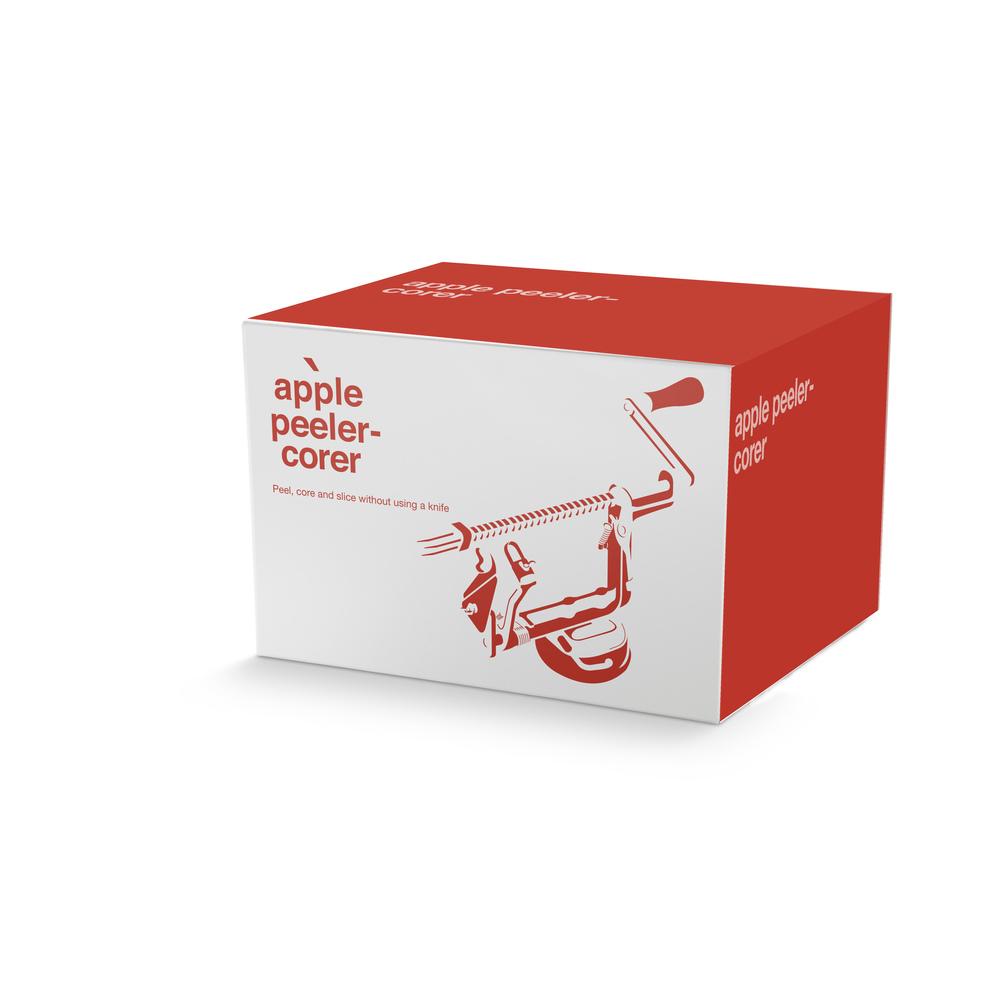 Example application of Apple Peeler-Corer packaging.