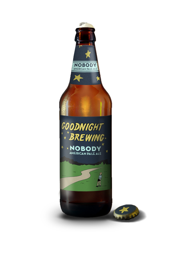 Goodnight Brew Bottle Artwork