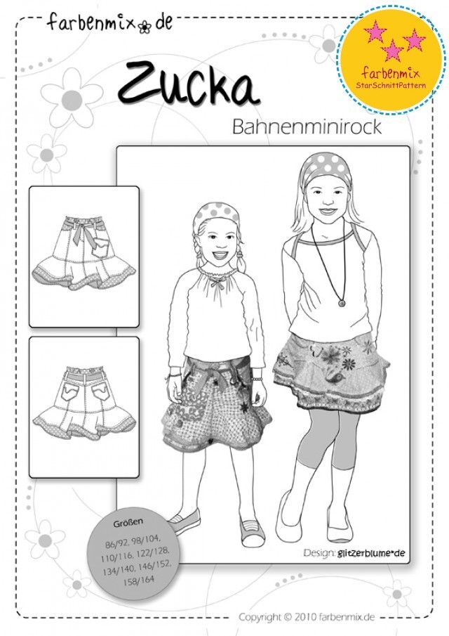 ZUCKA - KIDS SKIRT SEWING PATTERN BY FARBENMIX.jpg