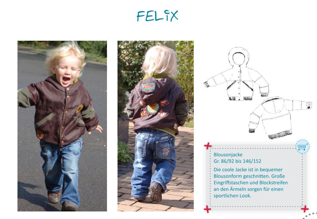 FELIX - bomber jacket GIRLS or BOYS pattern - by Farbenmix — studio ...