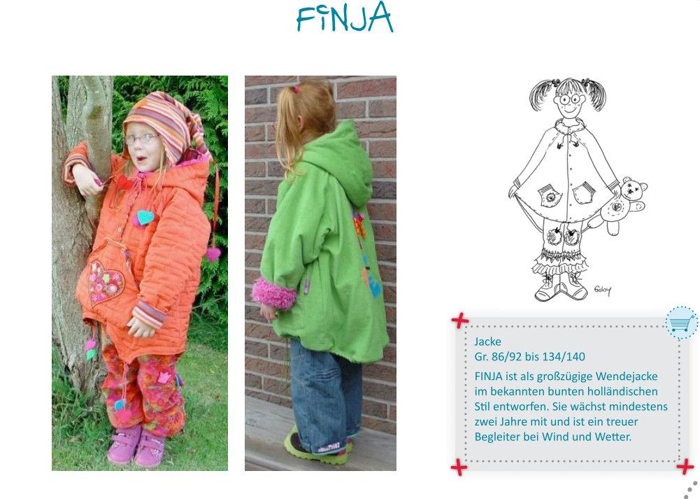 FINJA - coat GIRLS pattern - by Farbenmix — studio TANTRUM