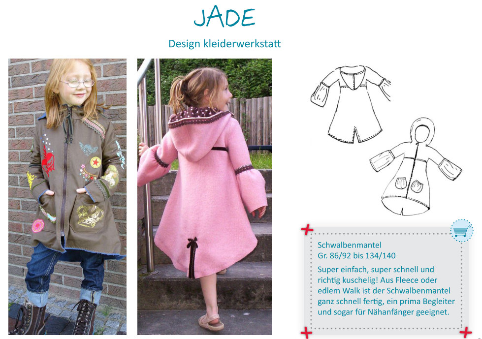 JADE - dressy coat GIRLS pattern - by Farbenmix — studio TANTRUM