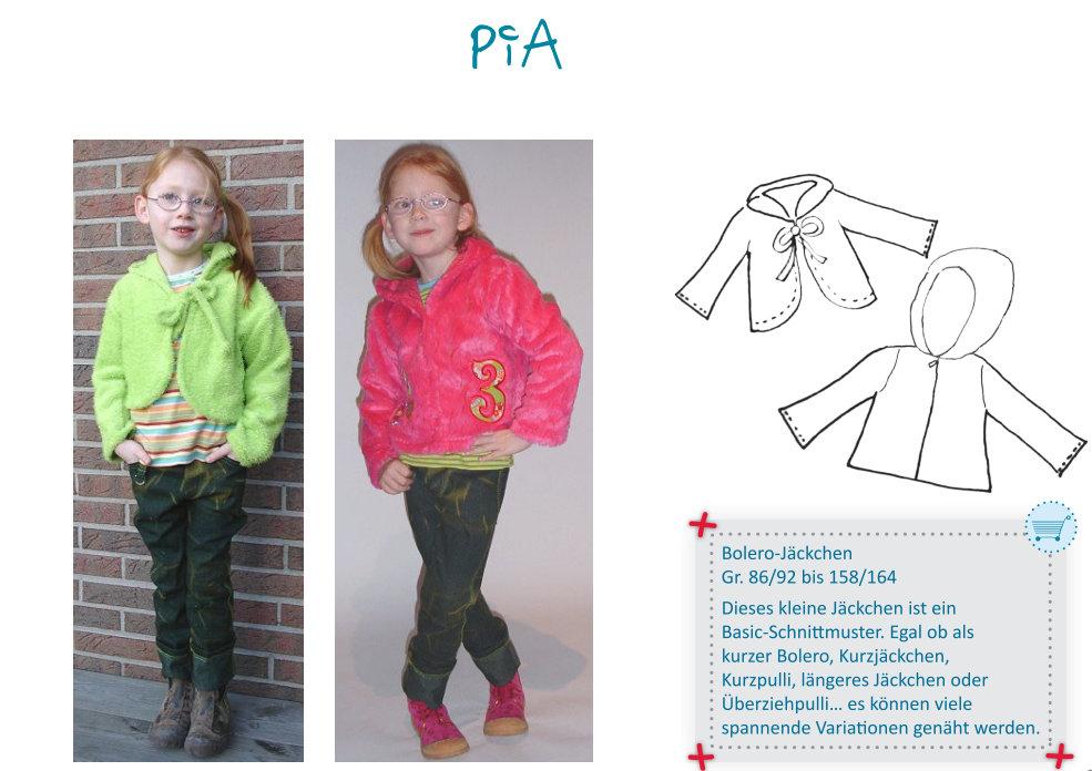PIA - bolero jacket GIRLS pattern - by Farbenmix — studio TANTRUM