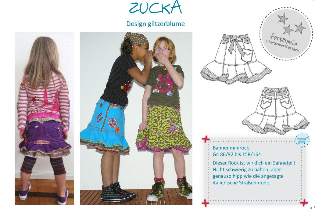 Zucka Sassy Sweet Mini Skirt Girls Pattern By Farbenmix Studio