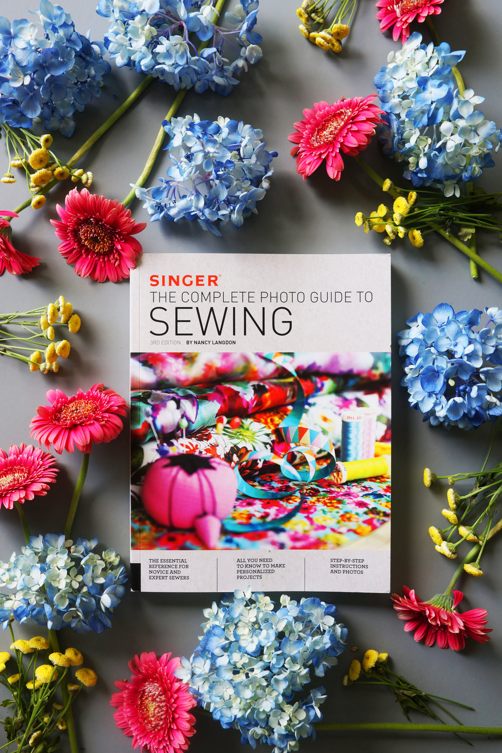 Check out this fully revised photo guide to sewing!  The Singer Complete Photo Guide to Sewing.  Yes, that was me that did all the revising. And check out the many new projects inside!