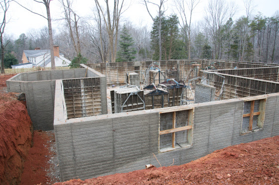 Basement walls complete!