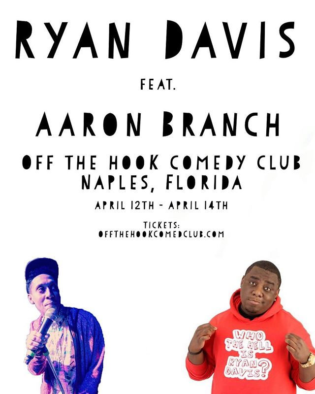 Aye, Naples, Florida (or anyone who knows someone who knows someone in Naples, FL)?! I've got 5 dope shows this weekend with @ryandaviscomedy !! Ticket link in bio. This weekend will be legendary!!