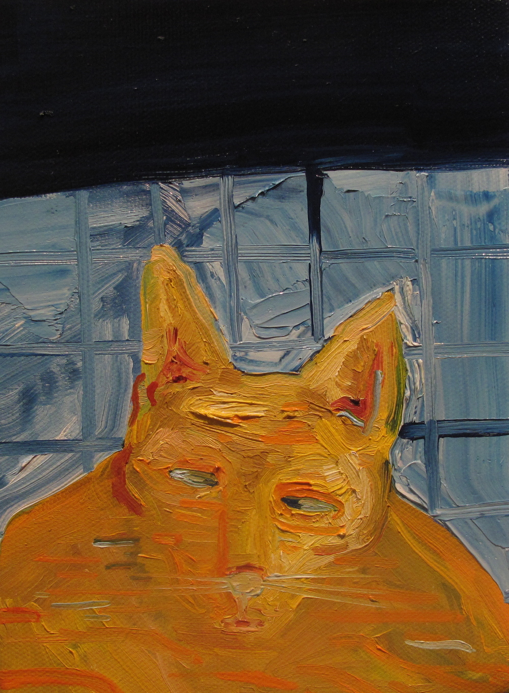 "Sniffs. 2009. Oil on Canvas. 8"" x 6"""