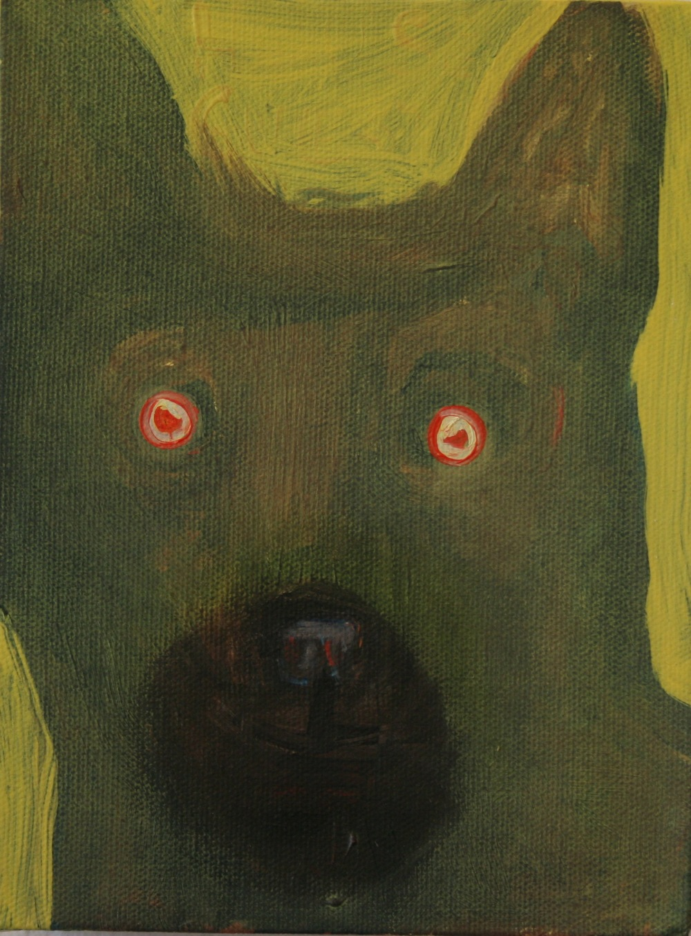 "House Guest. 2008. Oil on Canvas. 8"" x 6"""