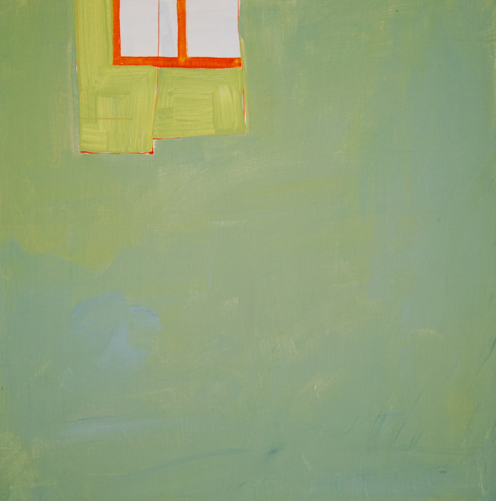 "The Green Rug. 2009. Acrylic on Canvas. 10"" x 10"""