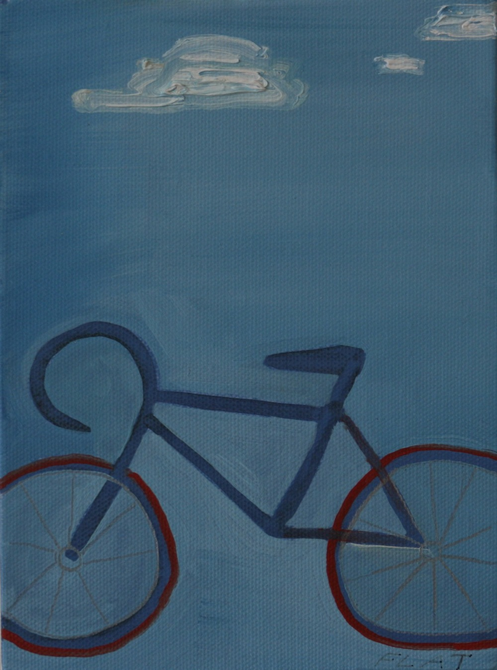 "Flat. 2008. Oil on Canvas. 8"" x 6"""