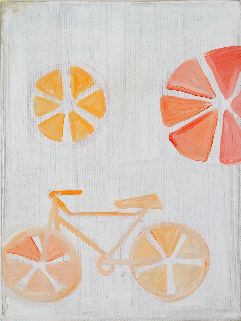 "Bike. 2008. Oil on Canvas. 8"" x 6"""