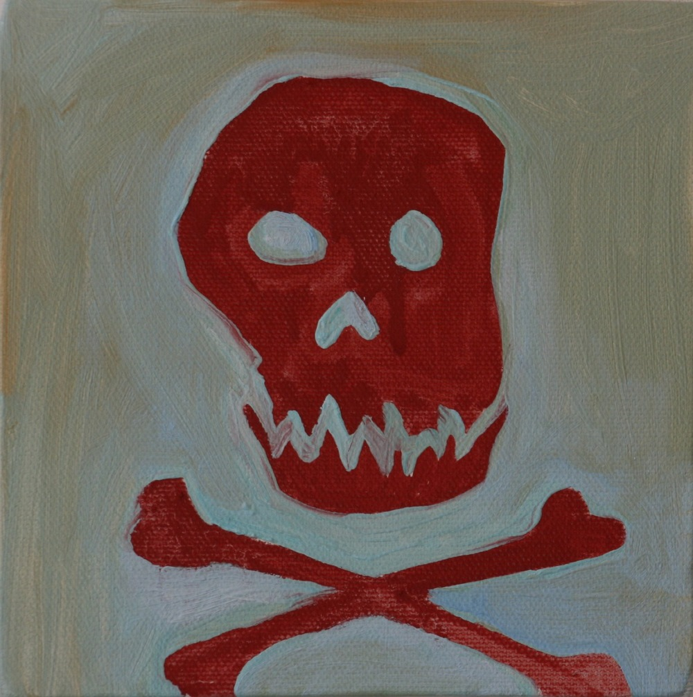 "Danger. 2008. Oil on Canvas. 6"" x 6"""