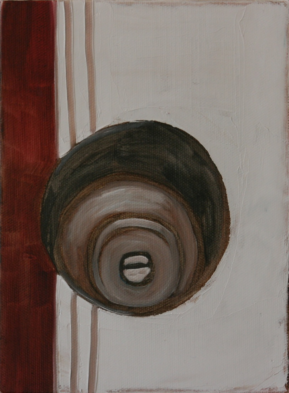 "Knob. 2008. Oil on Canvas. 8"" x 6"""